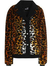 Love Moschino - Woman Leopard-print Faux Fur Coat Animal Print - Lyst