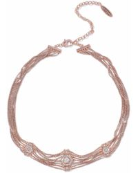 Luv Aj - Woman Pave Kite Rose Gold-tone Crystal Choker Rose Gold - Lyst