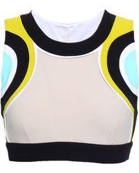 NO KA 'OI - Woman Color-block Tech-jersey Sports Bra Neutral - Lyst