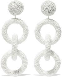 Kenneth Jay Lane - Woman Beaded Earrings White - Lyst