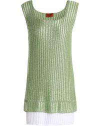 Missoni - Layered Metallic Crochet-knit Tank - Lyst