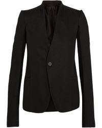 Rick Owens | Plinth Wool-paneled Cotton-drill Blazer | Lyst
