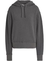 Vince - Woman Stretch Cotton Jersey Hooded Sweatshirt Dark Grey Size M - Lyst