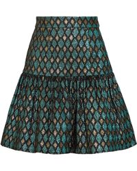 Dolce & Gabbana - Gathered Metallic Jacquard Mini Skirt - Lyst
