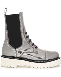 Dolce & Gabbana - Metallic Patent-leather Boots - Lyst