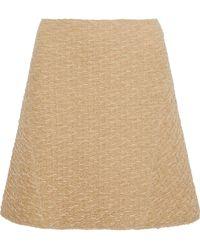Nina Ricci - Flared Wool-blend Cloqué Skirt - Lyst