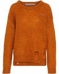 Raquel Allegra - Lofty Distressed Knitted Sweater - Lyst