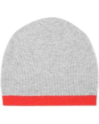 Duffy - Two-tone Ribbed Wool And Cashmere-blend Beanie - Lyst