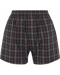 Maison Margiela - Checked Cotton-poplin Shorts - Lyst