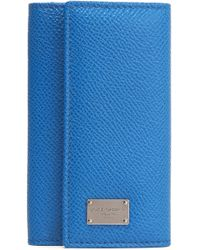 Dolce & Gabbana - Textured-leather Key Holder - Lyst