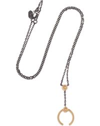 Maria Black | Phoenix Gunmetal And Gold-tone Necklace | Lyst
