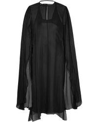 Narciso Rodriguez - Layered Silk-chiffon And Silk-satin Midi Dress - Lyst
