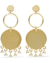 Luv Aj - Gold-tone Crystal Earrings - Lyst