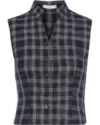 TOME - Cropped Checked Cotton Top - Lyst