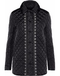 RED Valentino - Eyelet-embellished Quilted Shell Jacket - Lyst