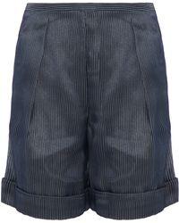 Giorgio Armani - Pleated Embroidered Tulle Shorts - Lyst