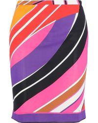 Emilio Pucci - Printed Stretch-jersey Skirt - Lyst