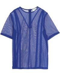 DKNY - Cotton-blend Lace Top - Lyst