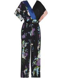 Diane von Furstenberg - Floral Print Belted Jumpsuit - Lyst