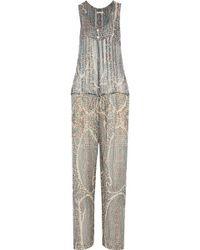Étoile Isabel Marant - Printed Silk-crepe Jumpsuit - Lyst