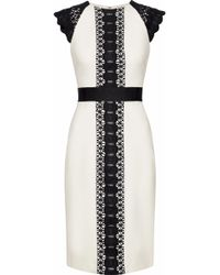 Catherine Deane - Guipure Lace-paneled Crepe Dress - Lyst