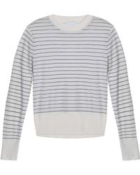 DKNY - Striped Merino Wool Sweater - Lyst