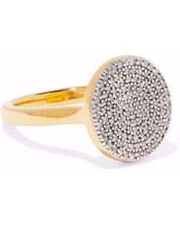 Monica Vinader - Woman Ava 18-karat Gold-plated Sterling Silver Diamond Ring Gold Size 3.5 - Lyst