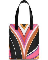 Emilio Pucci - Printed Faux Leather Tote - Lyst