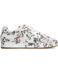 Rag & Bone - Woman Floral-print Leather Trainers White - Lyst