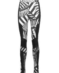 Just Cavalli - Printed Stretch-jersey leggings - Lyst