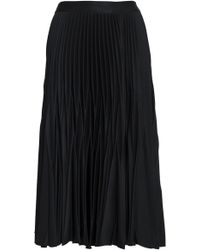 Nicholas - Pleated Crepe Midi Skirt - Lyst