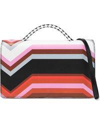 Missoni - Woman Printed Leather Shoulder Bag Black Size -- - Lyst