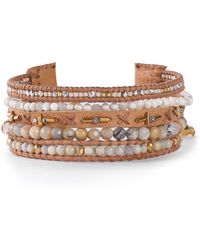 Chan Luu - Leather Multi-stone Bracelet - Lyst