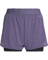 adidas - Woman Chill Layered Jacquard And Jersey Shorts Violet - Lyst