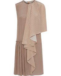Stella McCartney - Draped Printed Silk Dress - Lyst