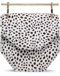 M2malletier - Amor Animal-print Calf Hair Clutch - Lyst