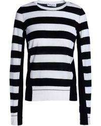 Sonia Rykiel - Paneled Striped Wool Sweater - Lyst