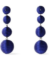 Kenneth Jay Lane - Gold-tone Cord Earrings Royal Blue - Lyst