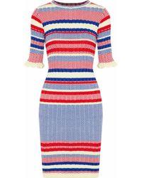Raoul - Ribbed Jacquard-knit Cotton Dress - Lyst