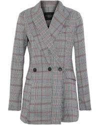 W118 by Walter Baker - Saundra Prince Of Wales Checked Woven Blazer - Lyst