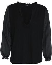Raoul - Chiffon-paneled Silk And Wool-blend Top - Lyst