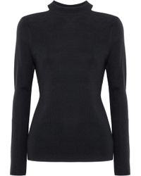Elie Tahari - Cold-shoulder Merino Wool Jumper - Lyst