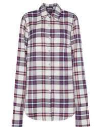 House of Holland - Button-detailed Checked Twill Shirt - Lyst