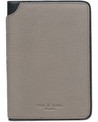 Rag & Bone - Textured-leather Wallet - Lyst