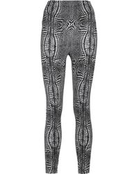 Norma Kamali - Printed Stretch-jersey Leggings - Lyst
