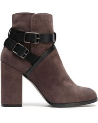 Castaner - Buckled Suede Ankle Boots - Lyst