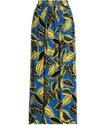 Boutique Moschino - Pleated Floral-print Crepe De Chine Maxi Skirt - Lyst