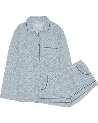 Three J Nyc - Printed Cotton-poplin Pajama Set - Lyst