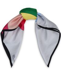 RED Valentino - Color-block Silk-twill Scarf - Lyst