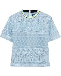 House of Holland - Heart Guipure Lace Top - Lyst